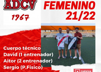 Cuerpo técnico del Primer Equipo Femenino para la temporada 2021-2022