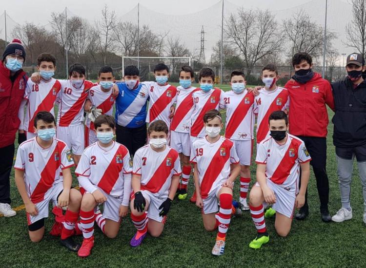 Derrota del Infantil B por la minima en un gran partido en Las Rozas